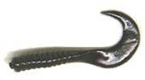 "Action Bait 3"" Curly Grubs 25pk Black"