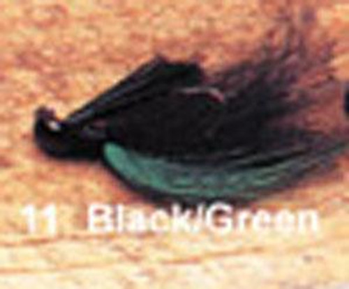 Arkie 1/4 Bucktail 6/cd Black/Green