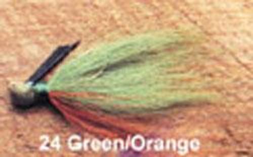 Arkie 1/4 Bucktail 6/cd Green/Orange