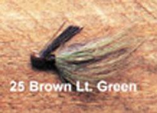 Arkie 1/4 Bucktail 6/cd Brown/Green