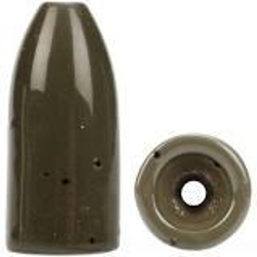 Bullet Weight Tungsten Worm Sinker Green Pumpkin 1/2oz 2ct