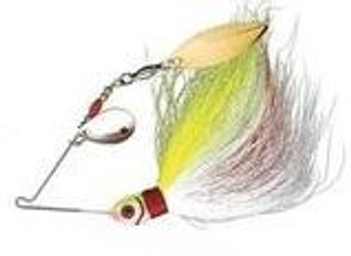 Booyah Wounded Bucktail Spinner 1/8 Chartreuse/White