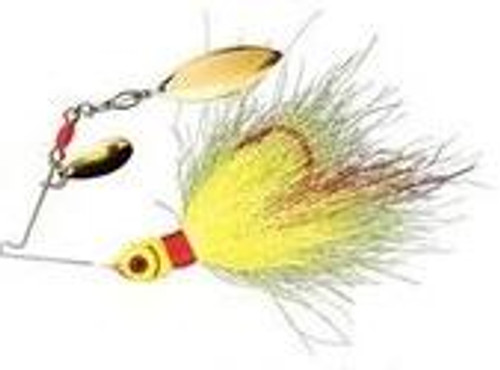 Booyah Wounded Bucktail Spinner 1/8 Chartreuse