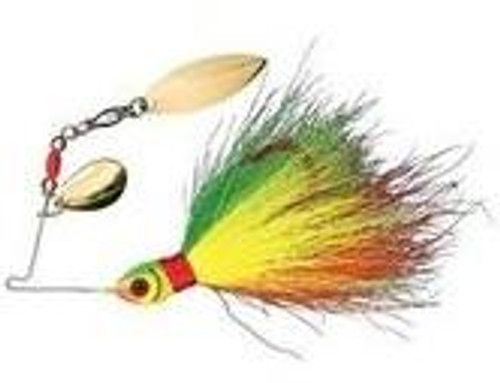 Booyah Wounded Bucktail Spinner 1/8 Craw