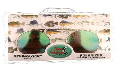 Flying Fisherman Clip-On Springlock Sunglass  Smoke Amber