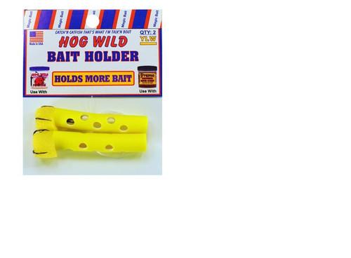 Magic Bait Bait Holder Tubes Yellow 2ct