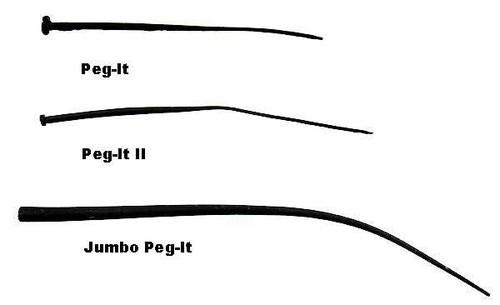 Top Brass Peg-It II Slim 15ct Black