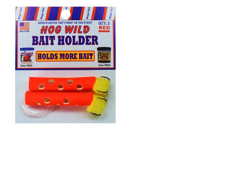Magic Bait Bait Holder Tubes Red 2ct
