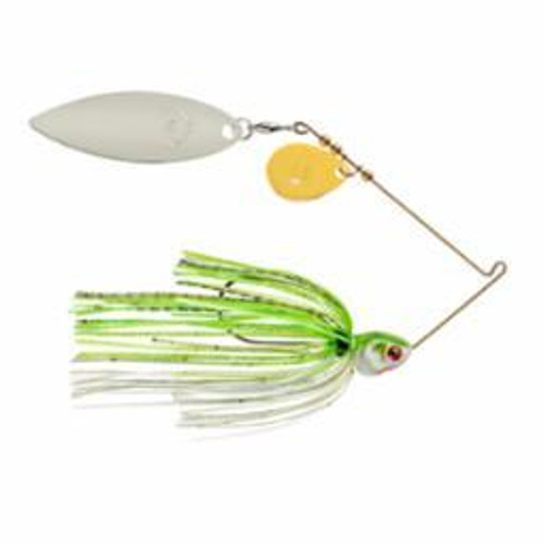 Booyah Covert 3/8oz Chart/White G/N-Willow Tandem