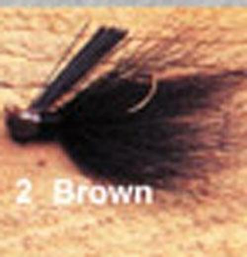 Arkie 1/4 Bucktail 6/cd Brown