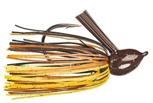 Strike King Hack Attack Fluro Jig 1/2oz Black/Brown/Amber