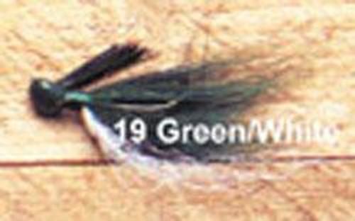 Arkie 1/4 Bucktail 12/cd Green/White