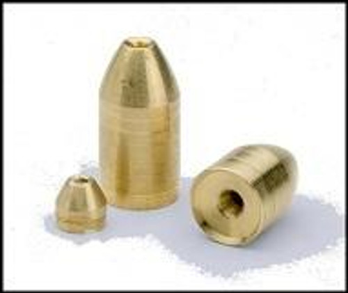 Bullet Weight Brass Worm Weight 2ct 3/4