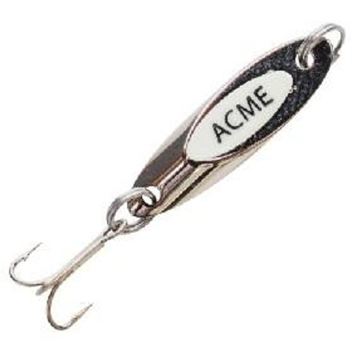 Acme Kastmaster Spoon w/Teaser Tail 11/2oz Chrome/White