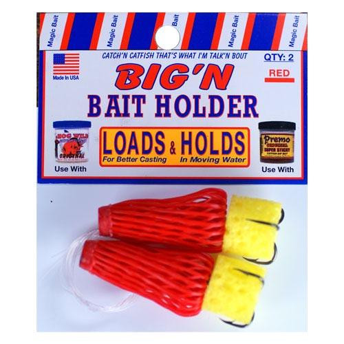 Magic Bait BigN Bait Holder Red 2ct Size 2