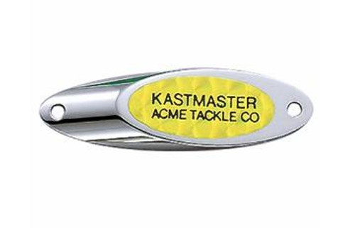 Acme Kastmaster Spoon w/Flash Tape 3/8oz Chrome/Chartreuse