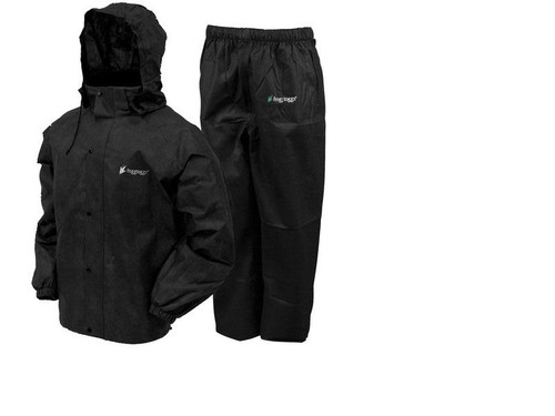 Frogg Toggs All Sport Rain Suit Black Size Large - AS1310-01XL