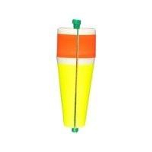 """Comal Poppin Floats Slotted Weighted 4"""" Red/Yellow 12ct"""