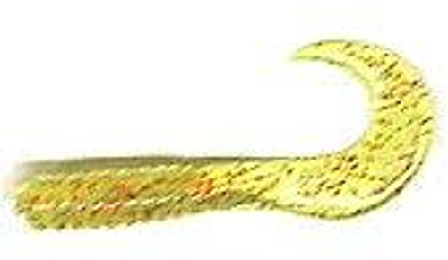"""Action Bait 4"""" Curly Grubs 12pk Chartreuse Red Glitter"""