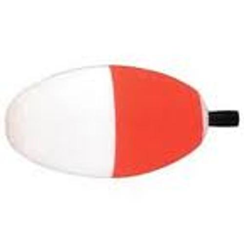 "Betts Peg Foam Float Oval 2.00"" 100ct Red/White"
