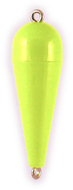 Rainbow Torpedo Float 1/8oz Opaque Chartreuse 12ct