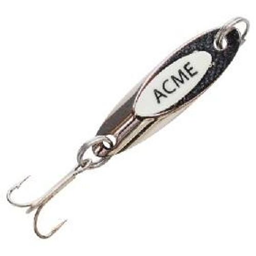 Acme Kastmaster Spoon w/Teaser Tail 3/8oz Chrome/White