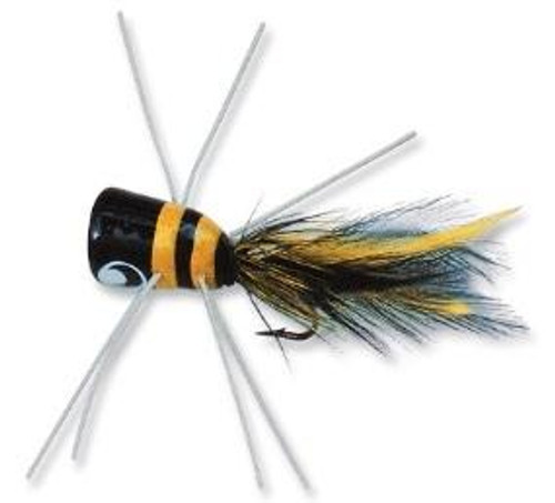 Betts Bass Bug Frog/Black-Yellow Size 1/0