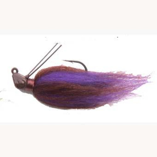 Punisher Hair Jig 1/4oz Peanut Butter & Jelly