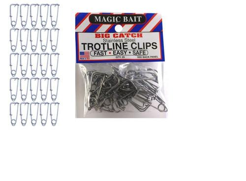 Magic Bait Stainless Trot Line Clips 25pk