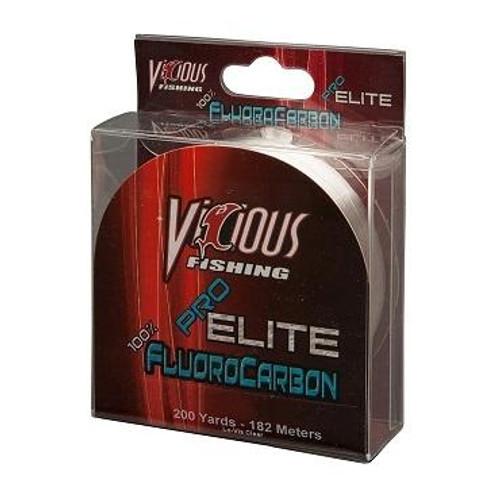 Vicious Pro Elite Fluorocarbon Clear 200yd 6lb