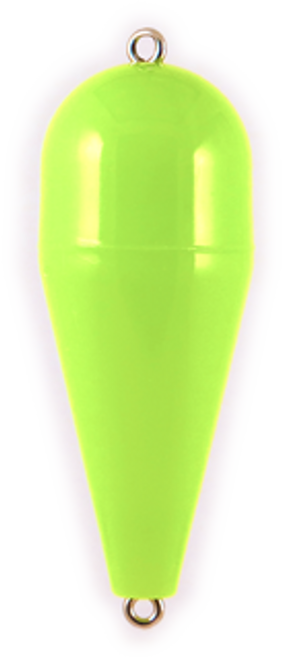Rainbow Torpedo Float 3/8 Opaque Green