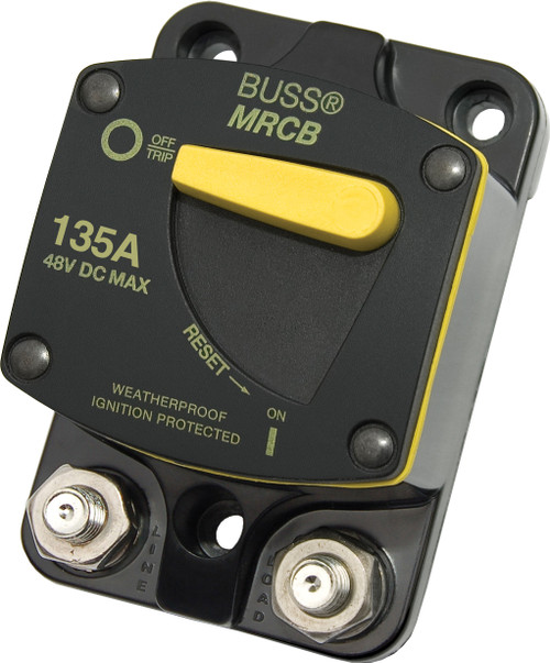 Blue Sea 187-series 135 Amp Circuit Breaker Surface Mount