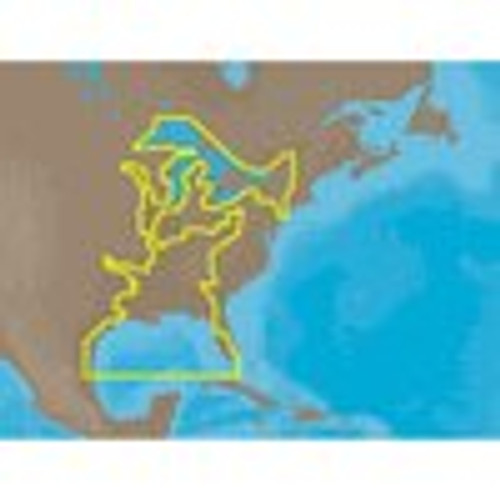C-map Na-m023 Max Wide Microsd Gulf Coast , Great Lakes And Rivers