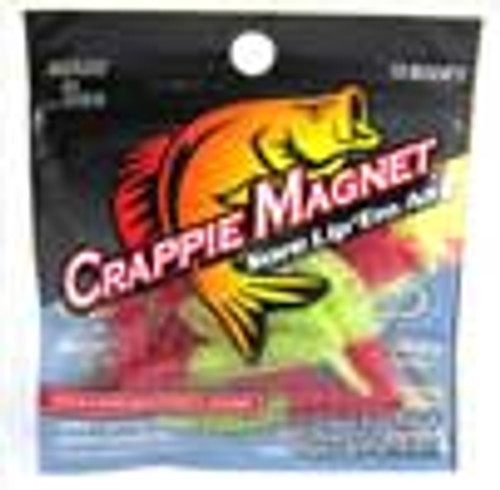 """Leland Crappie Magnet 1.5"""" 15ct Red/Chartreuse Flash"""