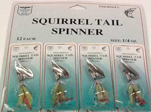 FJ Neil Squirrel Tail Spinners 1/4 Chartreuse