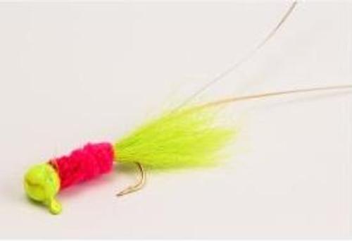 Slater Electric Chicken Jig 1/16 Chart/Pink/Chart #4 Hook 3pk