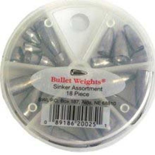 Bullet Weight Assortment Worm Sinker 18ct