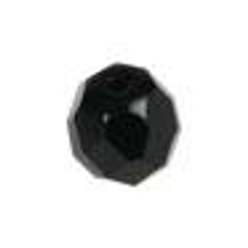 Top Brass Glass Beads 8mm 20ct Black