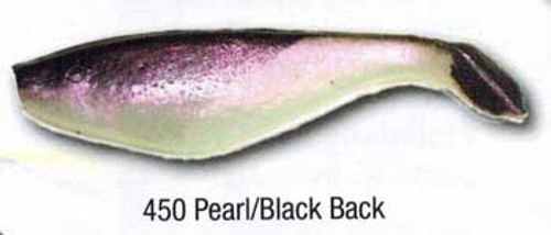 "Luckie Strike Shad Minnow MC 6"" 10ct Pearl/Black Back"