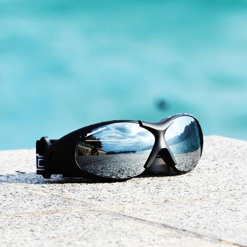 Spark Goggles Black Frame/Smoke Lens including Case PWC Jetski Racer