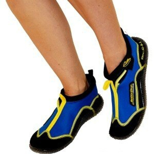 Rec R-14 Ride Shoes Blue / Yellow PWC Jetski Ride & Race Gear