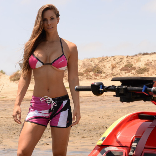 Sharpened Pink Ladies Shorts - PWC Jetski Ride & Race Apparel