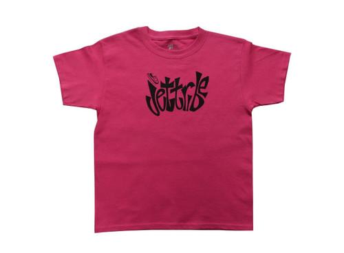Girls Youth Block Pink T-Shirt PWC Jetski Ride & Race Apparel