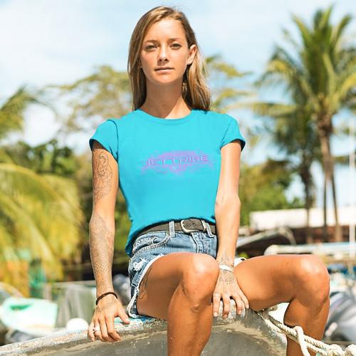 Ladies Tee Gotham | T-Shirt Turquoise | PWC Jetski Ride & Race Apparel