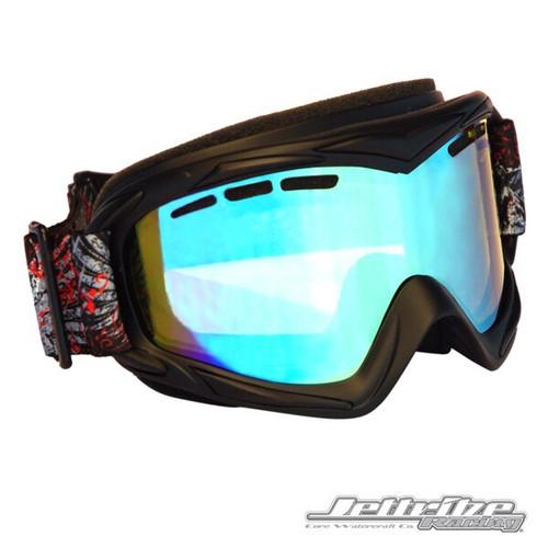Helmet Deep Set Frame Goggles/Revo Lens including Case PWC Jetski Racer