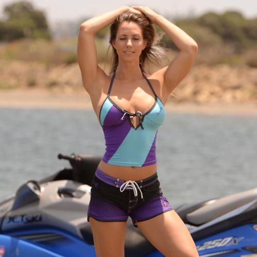 Diamond Purple Ladies Shorts | PWC Jetski Ride & Race Apparel