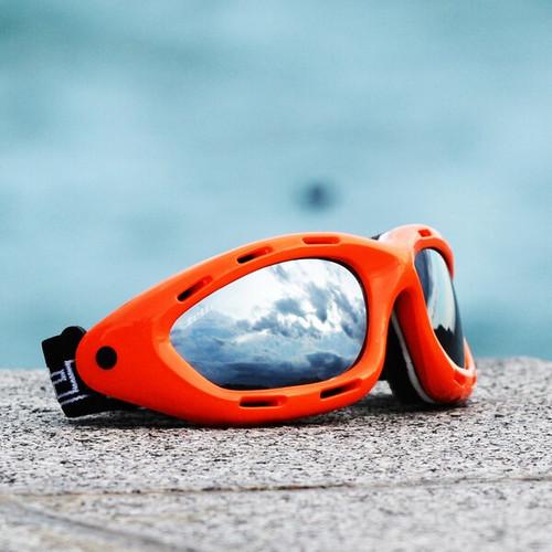 Classic Orange Neon Frame/Smoke Lens Goggles PWC