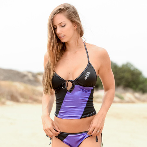 Metallic Purple Tankini Top - PWC Jetski Ride & Race Swimwear