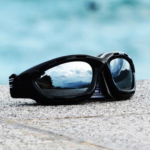 Classic Black Frame/Smoke Lens Goggles PWC Jetski Ride & Race