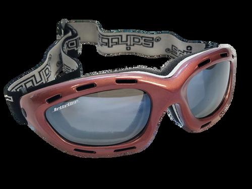 Classic Berry Red/Smoke Lens Goggles PWC Jetski Ride & Race